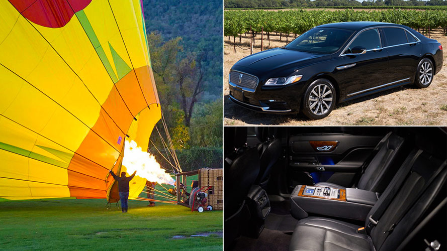 Napa Valley Balloon Flight and Luxury Sedan Tour package