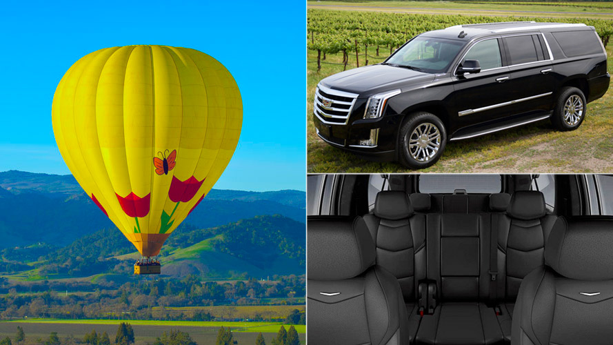 Balloon Ride and Luxury SUV Wine Tour