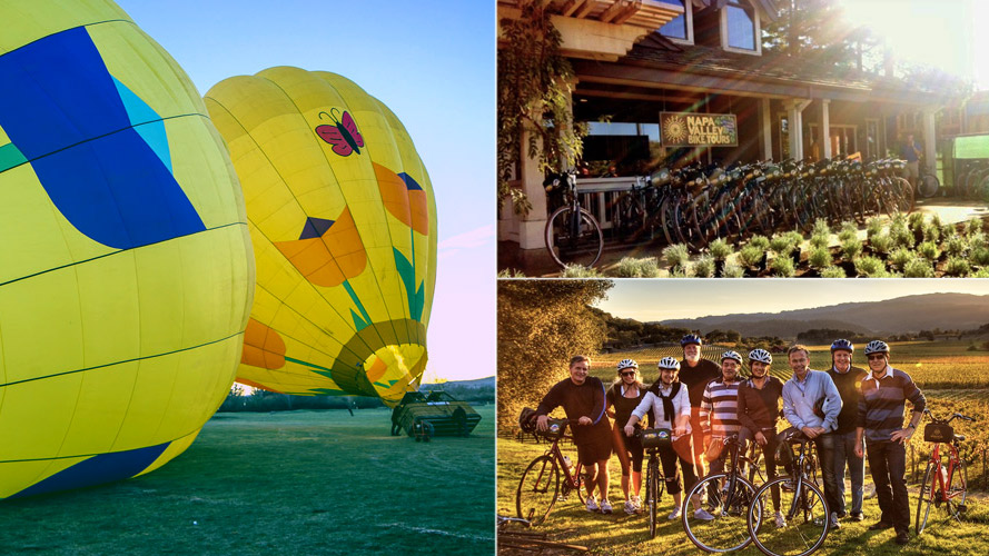 Napa Valley Balloon and Bike Tour