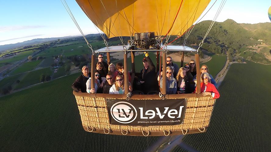 Charter a Napa Valley Balloon Flight for your group